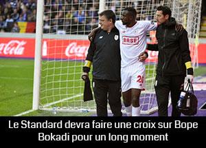 Merveille Bokadi blessé